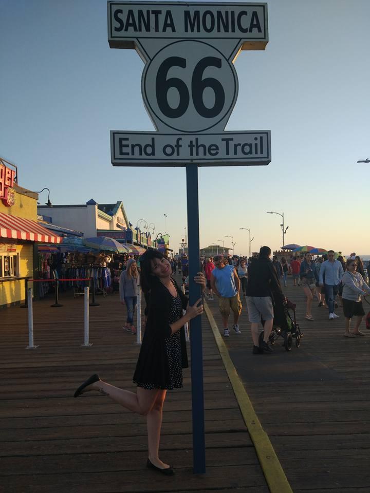 Final del recorrido de la ruta 66